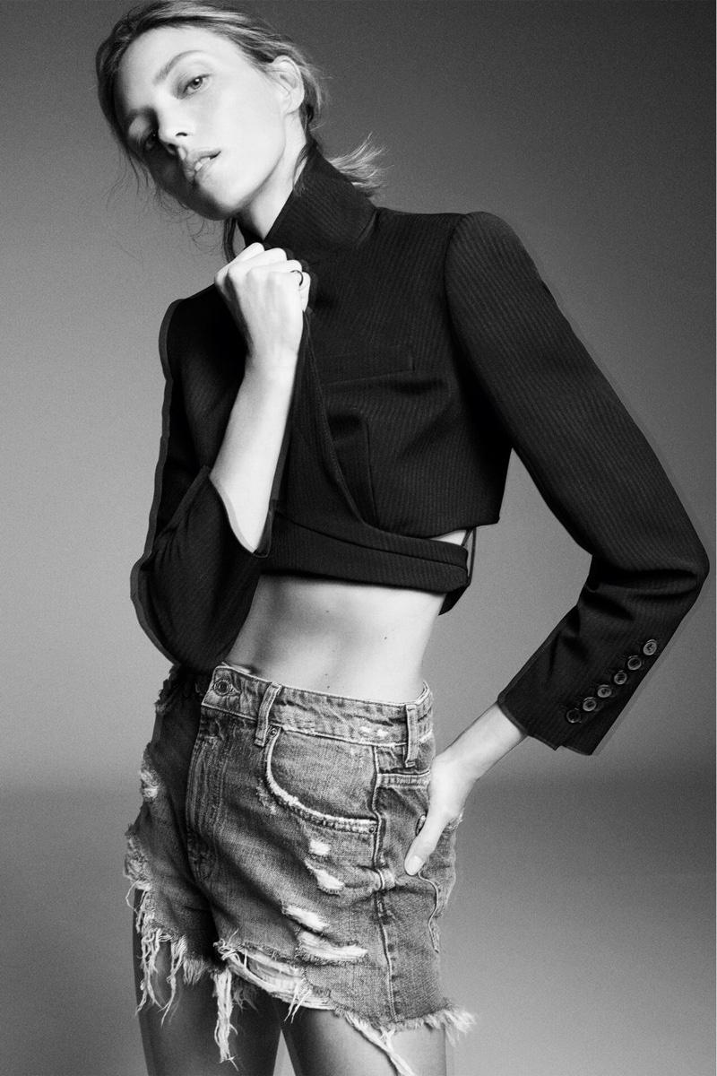 Zara Wrap Blazer Limited Edition and ZW Premium Shorts.