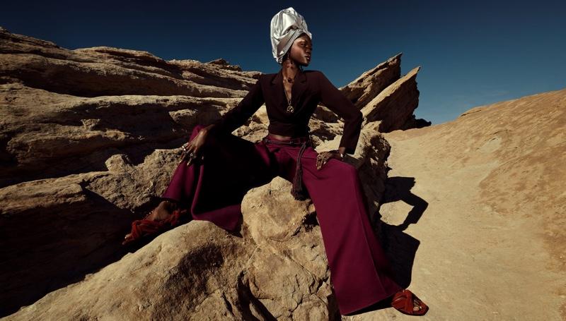 Achenrin Madit stars in Zara spring-summer 2021 campaign.