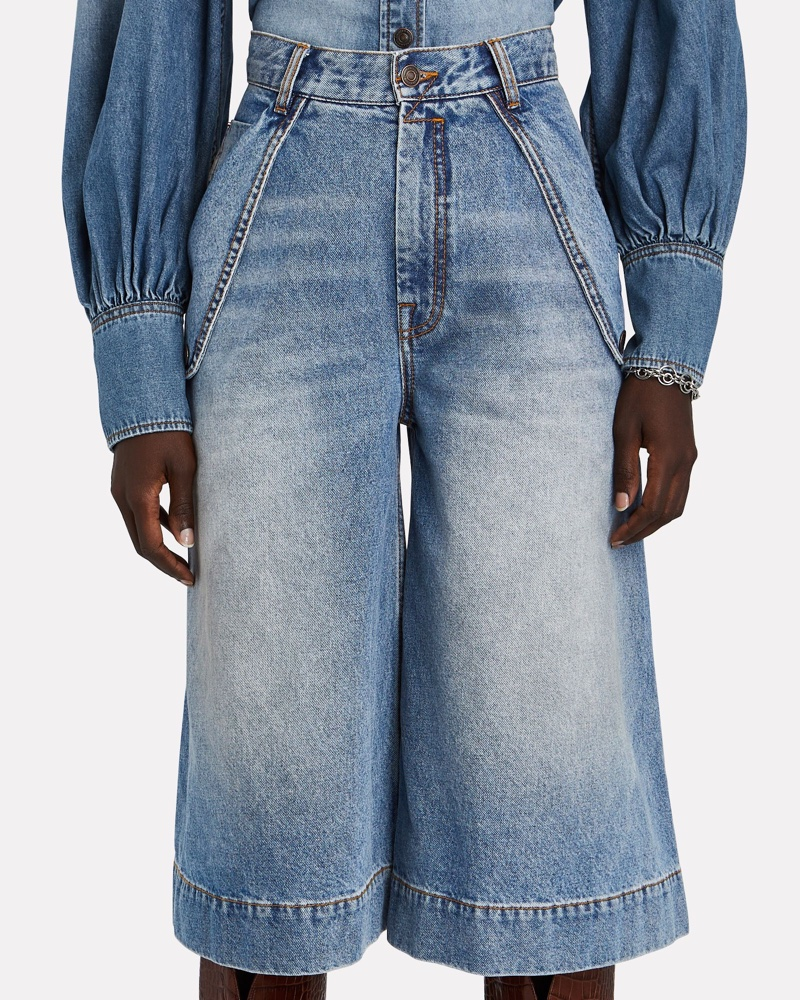 Zimmermann Vintage Stone Denim Bermuda Shorts $425