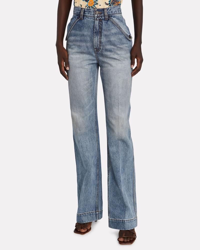 Zimmermann Vintage Stone Pocket Flare Jeans $575
