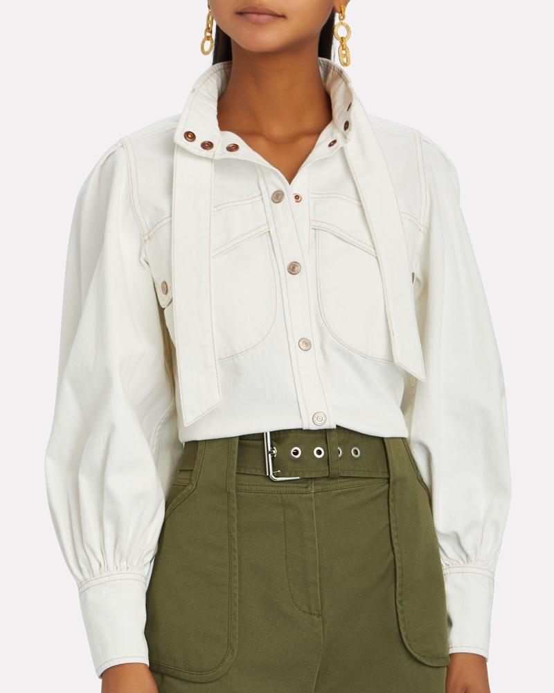 Zimmermann Vintage White Denim Shirt $425