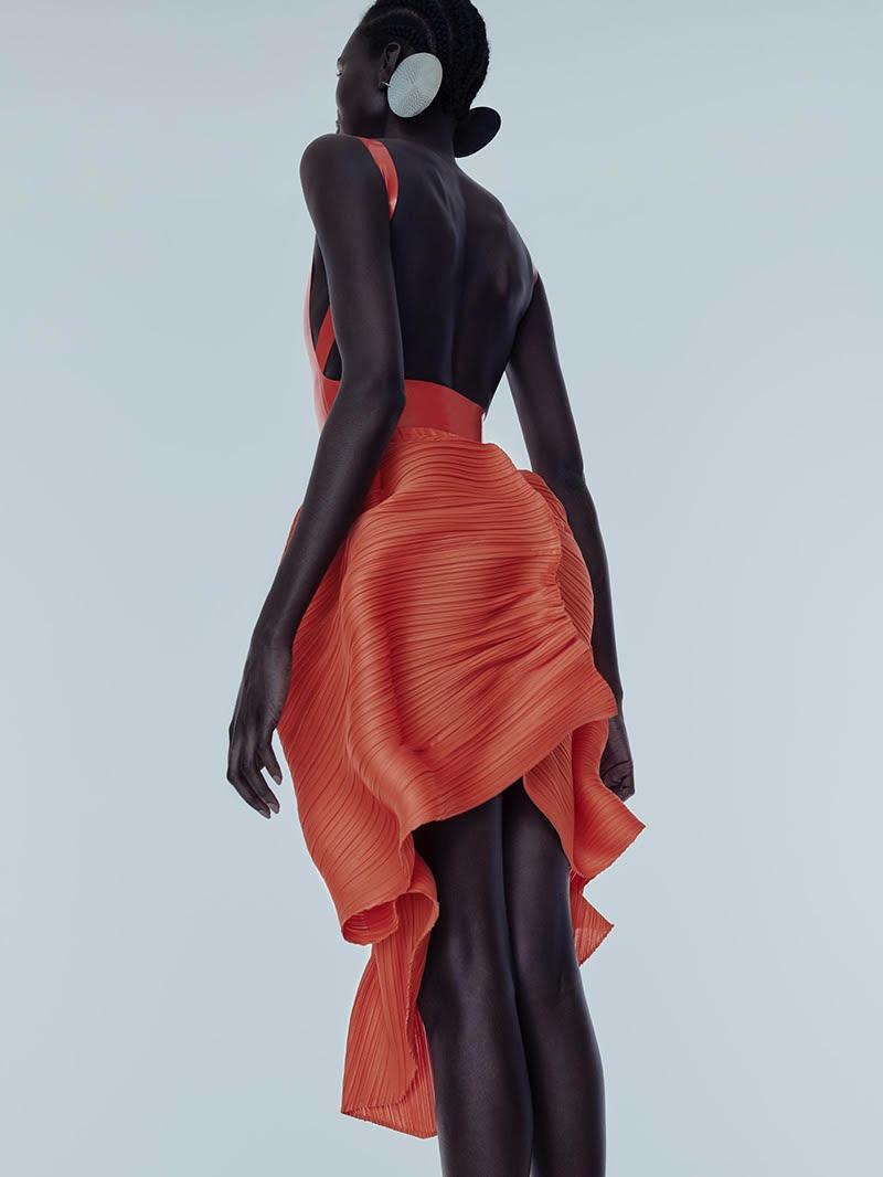 Alek Malek Models Bright Outfits for L'Officiel Australia
