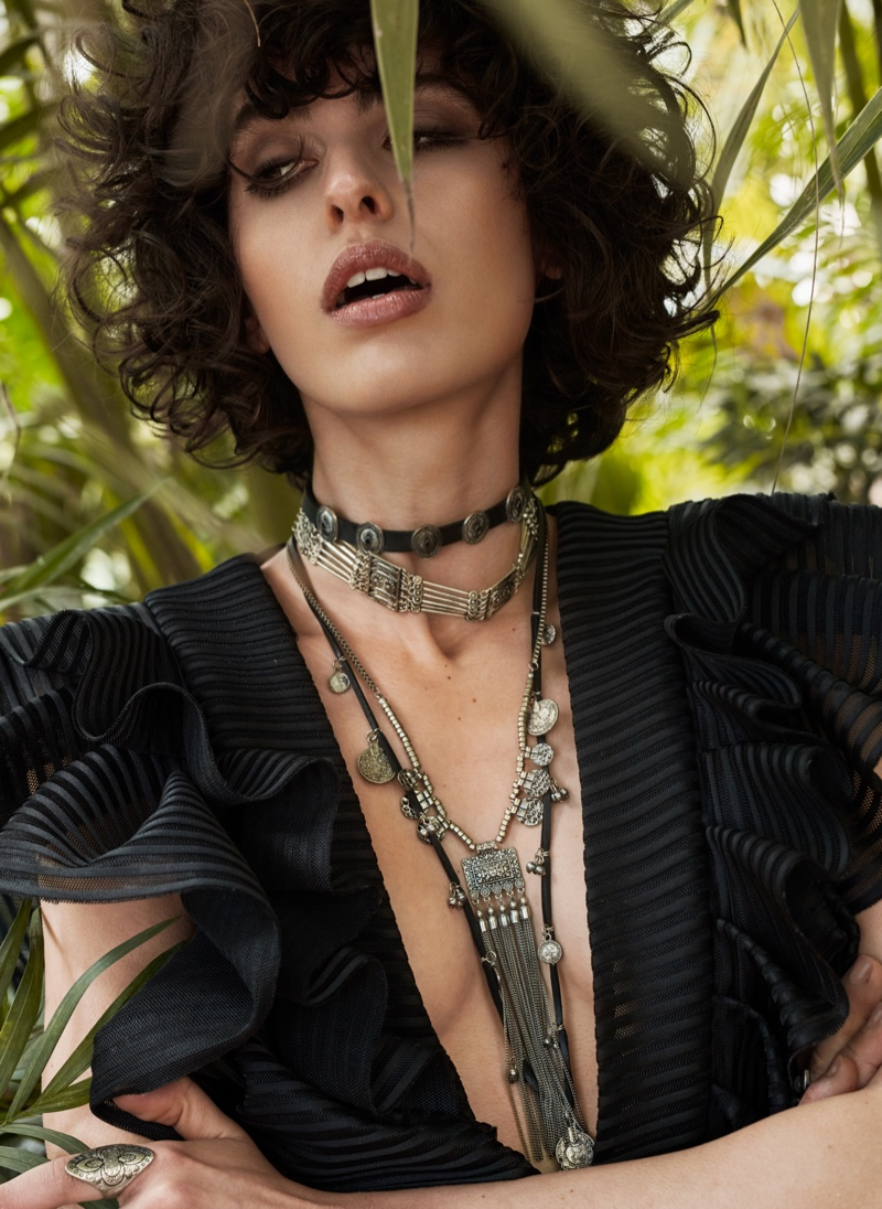 Ana Vizuete Poses in Western Style for L'Officiel Lithuania