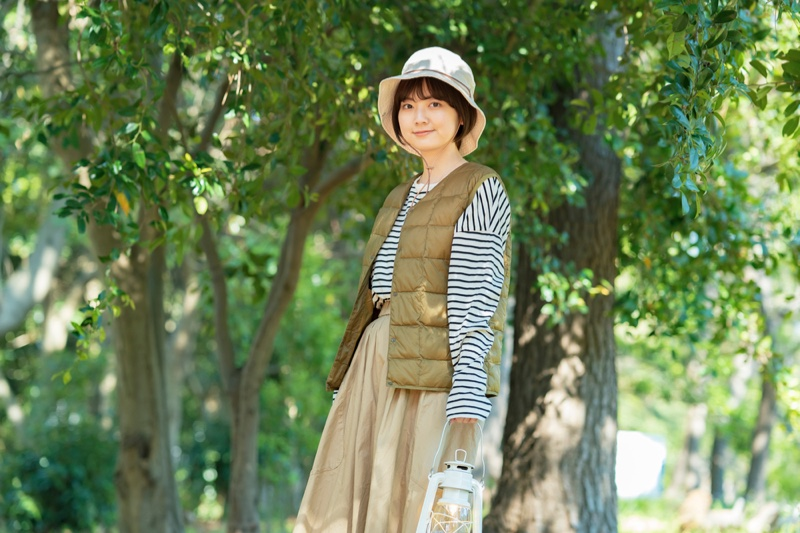 Asian Woman Camping Outfit