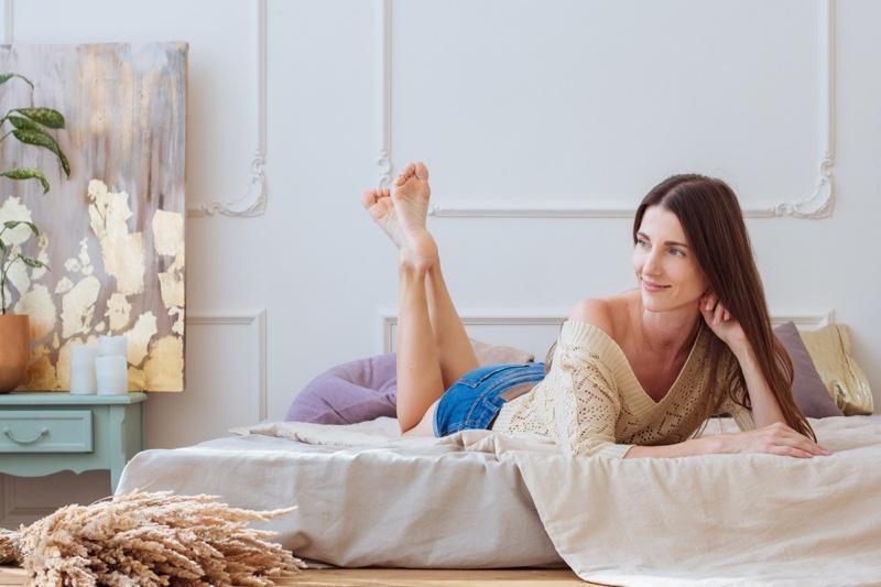 Attractive Woman Bedroom Decor Art