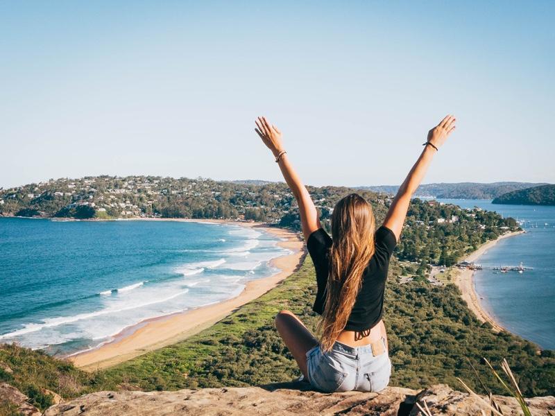 Back Girl Palm Beach Sydney Australia