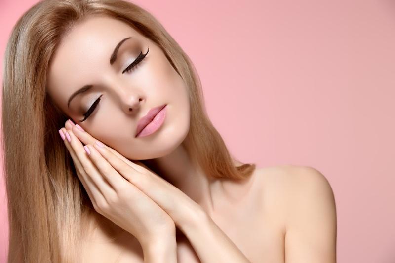 Beauty Makeup Model Eyes Closed Eyelashes Sleeping