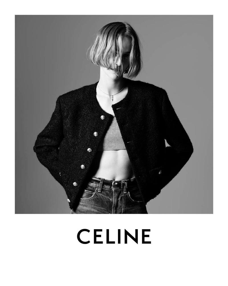 Quinn Mora stars in Celine Les Grand Classiques campaign.
