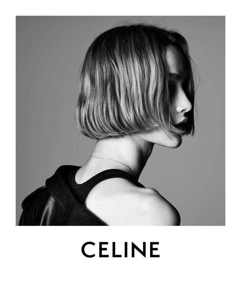 Hedi Slimane photographs Celine Les Grand Classiques campaign.