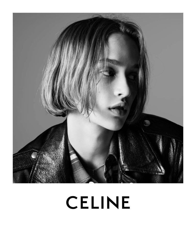 Quinn Mora gets her closeup in Celine Les Grand Classiques campaign.