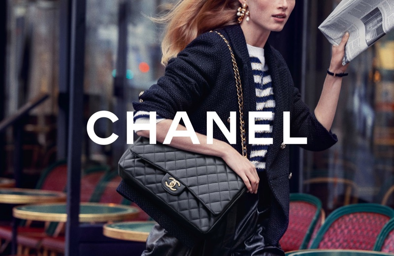 An image from Chanel's Iconic Bag 2021 campaign.