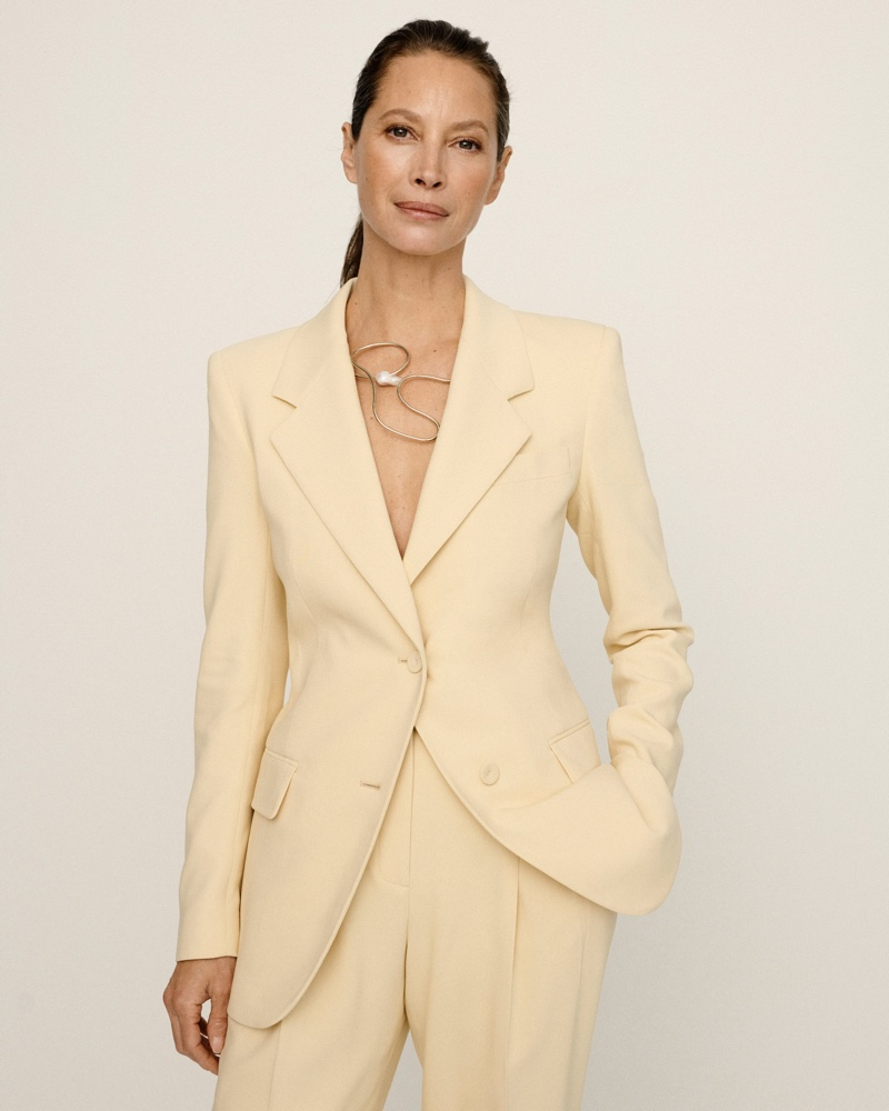 Posing in a yellow suit, Christy Turlington fronts Lafayette 148 #UnordinaryWomen campaign.