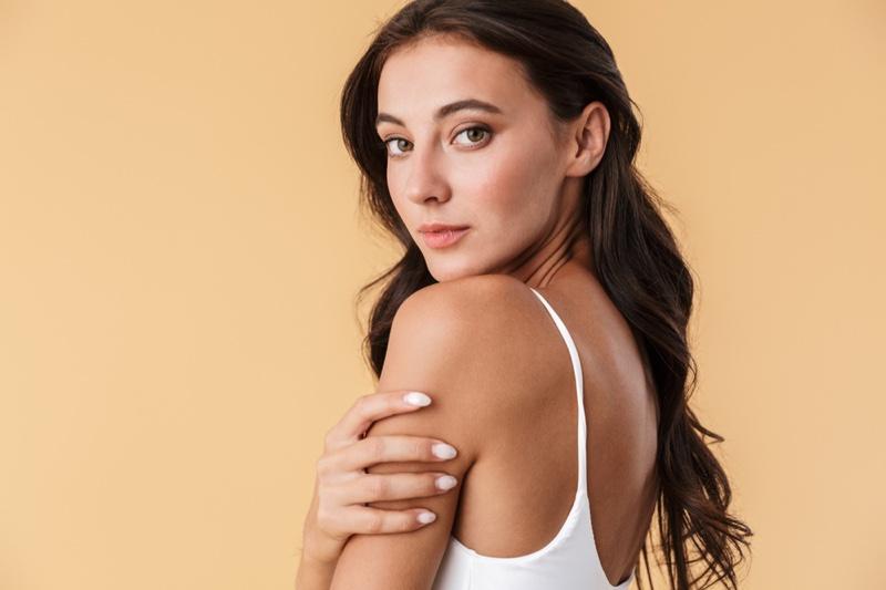 Clear Skin Brunette Woman Minimal