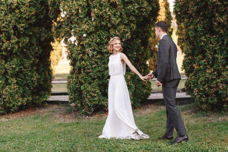 Couple Outdoor Wedding Bride Groom