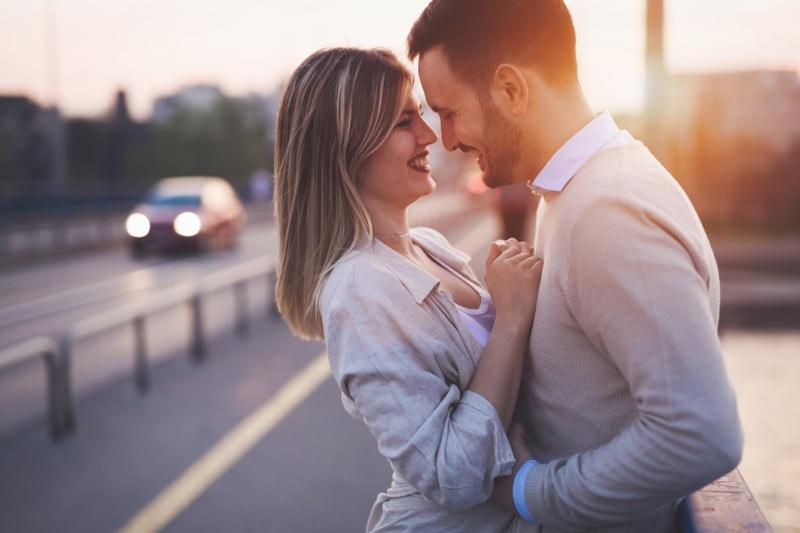 Couple Romantic Embrace Happy