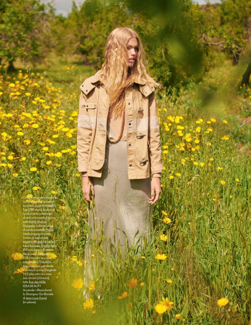 Daphne Groeneveld Takes On Outdoor Style for ELLE Italy