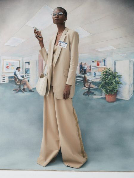 Debra Shaw Poses in Office Looks for Vogue Spain Business