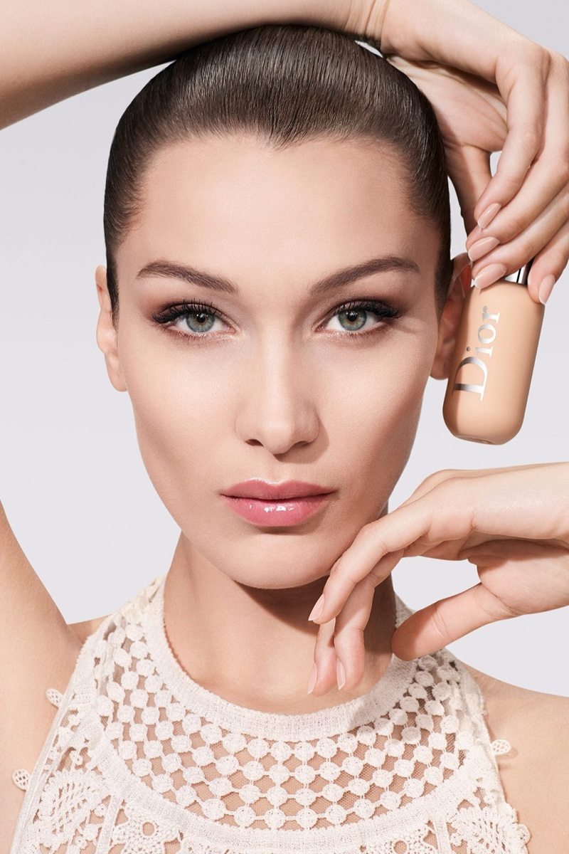 Bella Hadid stars in Dior Backstage Face & Body Foundation makeup campaign.
