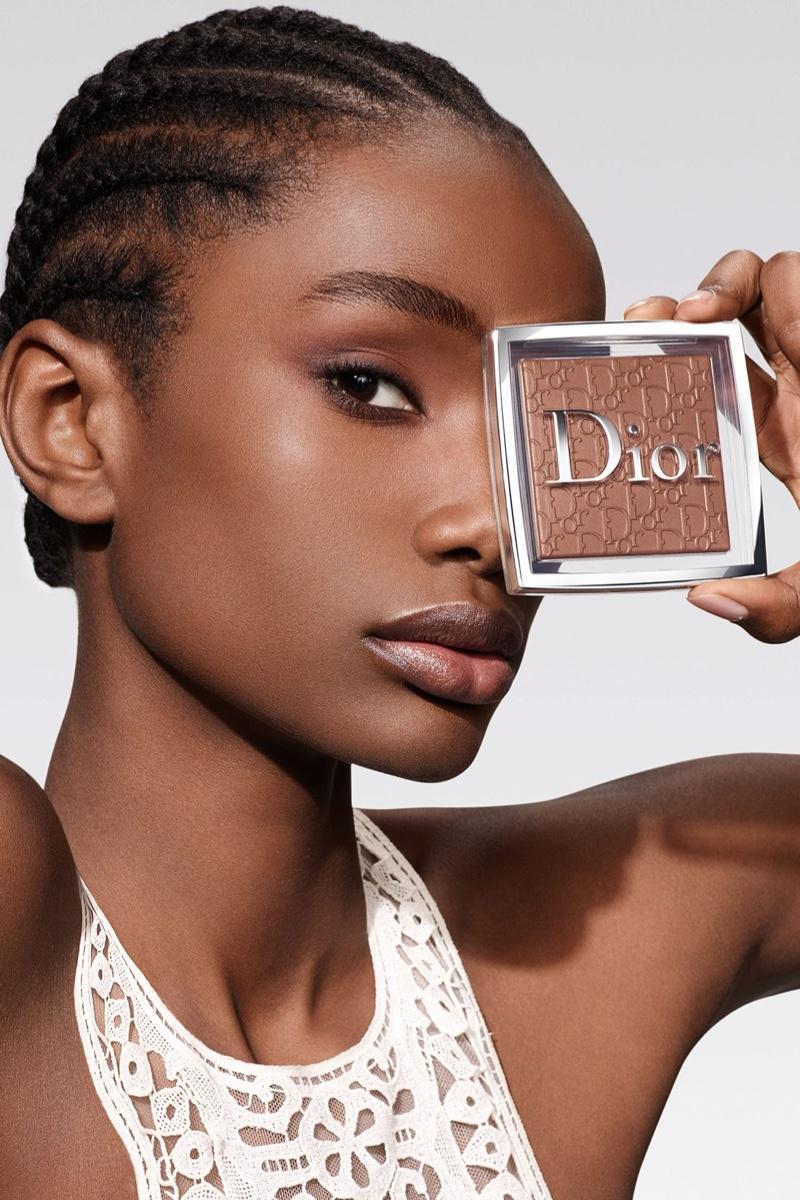 Imari Karanja fronts Dior Backstage Powder-no-Powder makeup campaign.