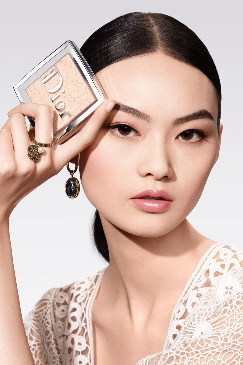 He Cong stars in Dior Backstage Powder-no-Powder makeup campaign.