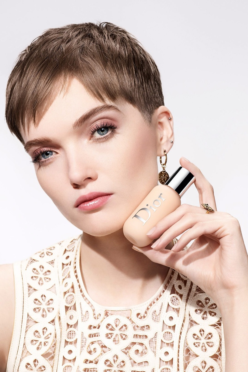 Ruth Bell fronts Dior Backstage Face & Body Foundation makeup campaign.