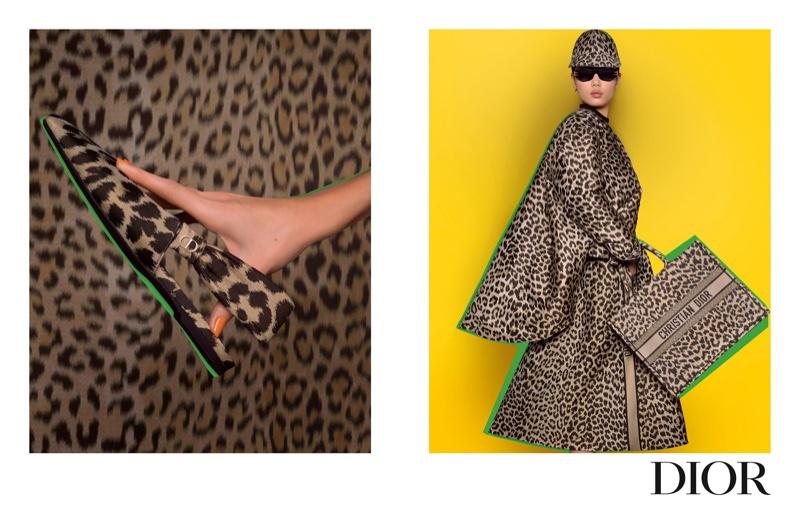 Kayako Higuchi wears animal print in Dior pre-fall 2021 campaign.