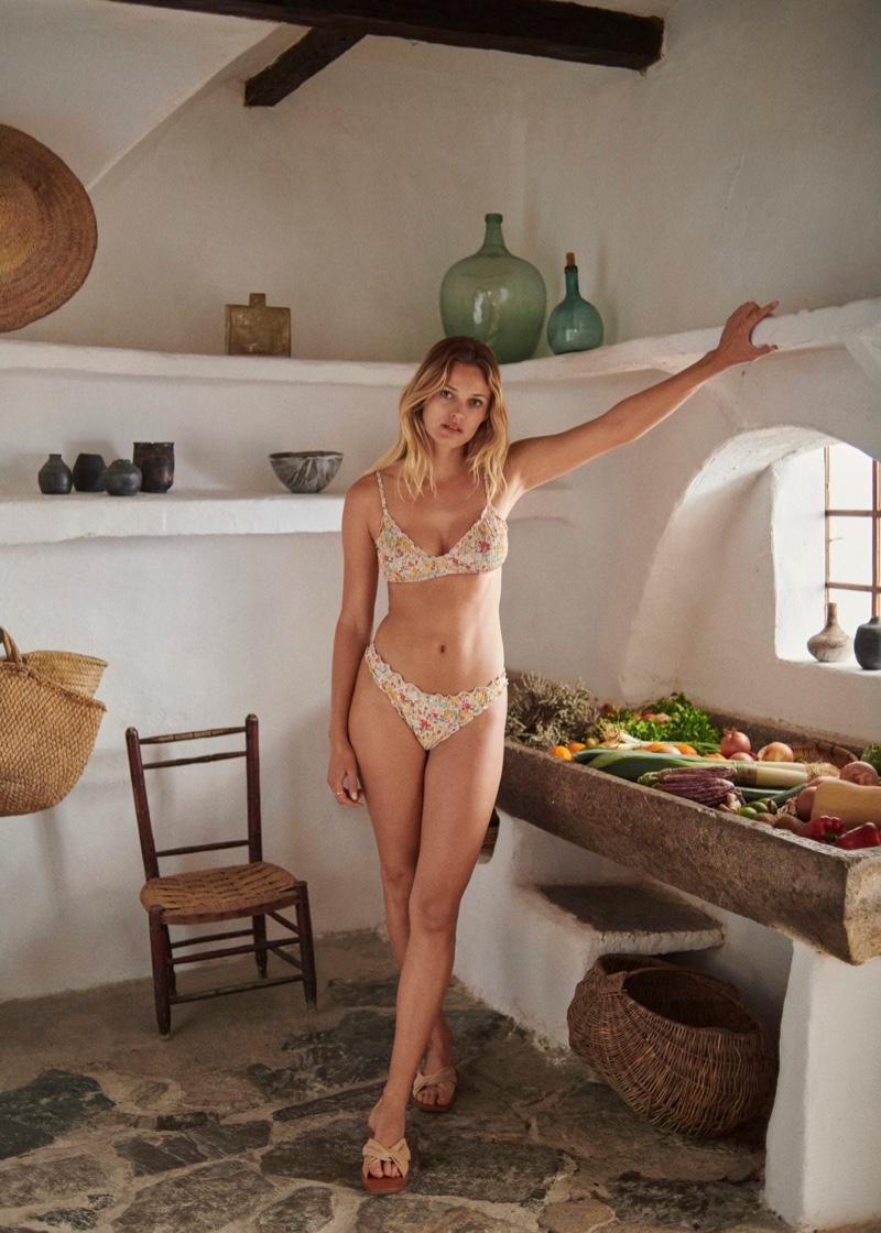 Mango Floral Triangle Bikini and Bikini Bottom.