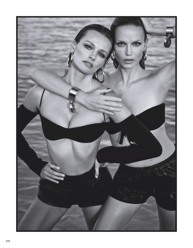 Natasha & Edita Smolder on the Beach for Vogue Japan