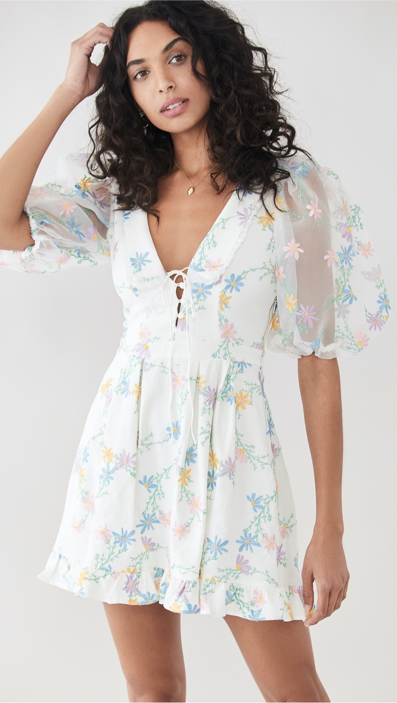 For Love & Lemons Majorie Mini Dress $288