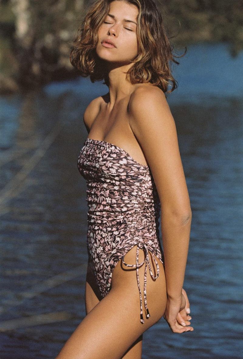 Model Georgia Fowler wears Julliet The Lennox one piece swimsuit.