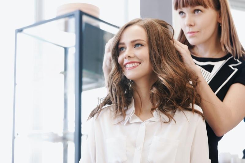 Hairdresser Client Smiling
