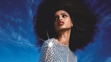 Imaan Hammam Is a Stunning Sea Siren for Vogue Japan