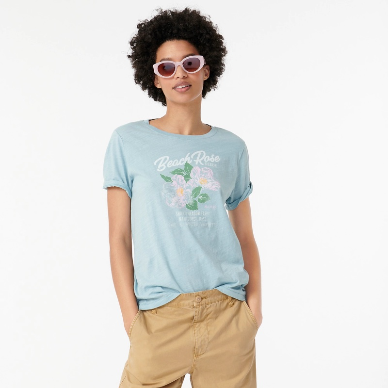 J. Crew Vintage Cotton Beach Rose T-Shirt $34.50