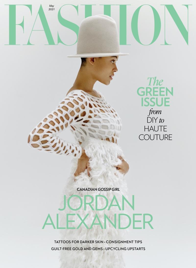 Jordan Alexander on FASHION Magazine May 2021 Cover.