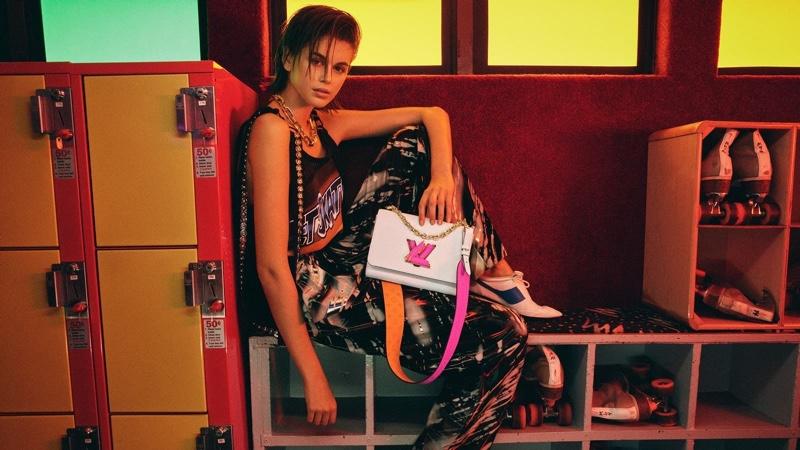 Louis Vuitton enlists Kaia Gerber for Twist bag summer 2021 campaign.