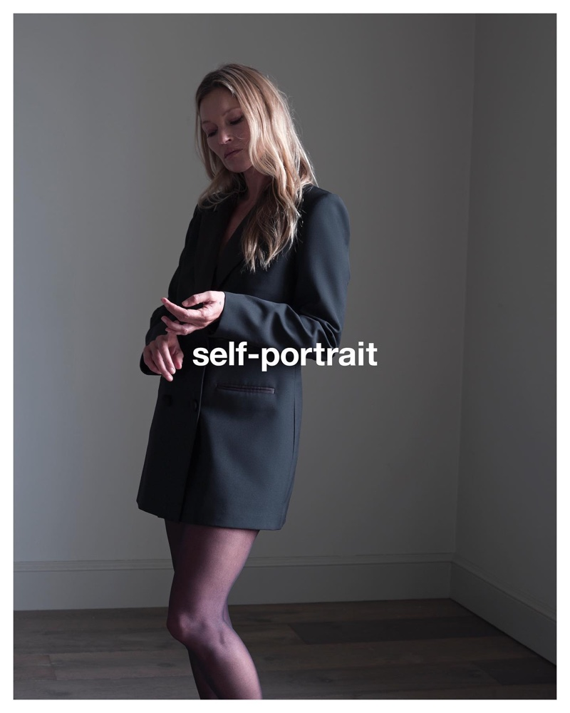 Self-Portrait taps Kate Moss for pre-fall 2021 campaign.