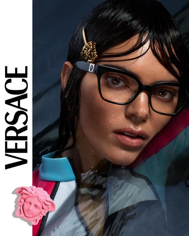 Kendall Jenner stars in Versace Eyewear spring-summer 2021 campaign.