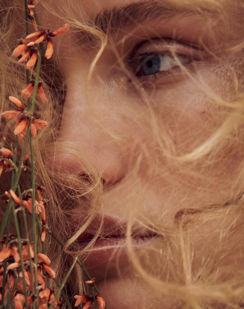 Kim Van der Laan Poses in Natural Neutrals for ELLE Germany
