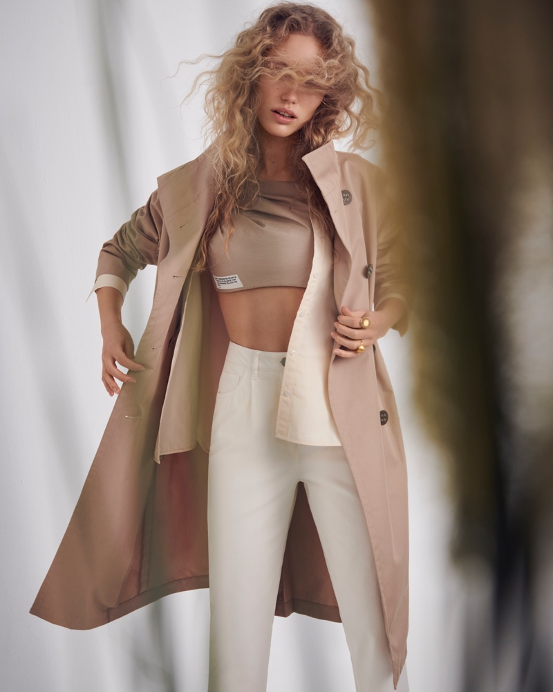 Kim Van der Laan Poses in Natural Neutrals for ELLE Germany