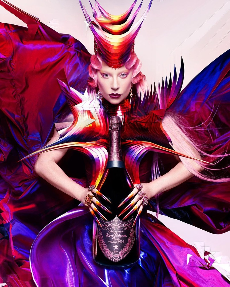 Lady Gaga stars in Dom Pérignon x Lady Gaga campaign.