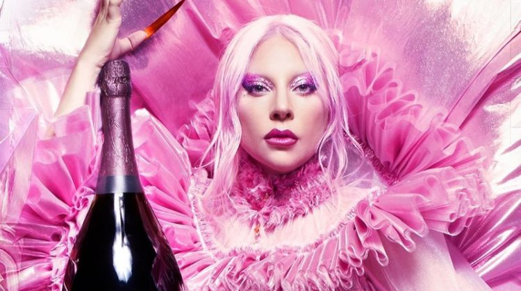 Dressed in pink, Lady Gaga fronts Dom Pérignon campaign.