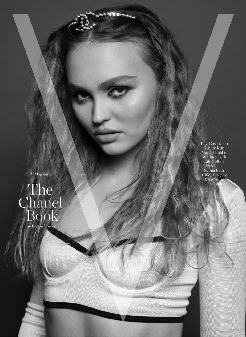 Lily-Rose Depp on V Magazine: The Chanel Book Cover.