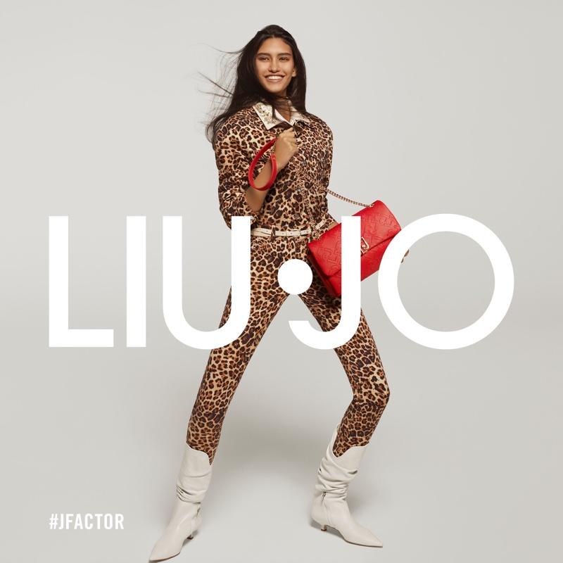 Zuf Capelli poses for Liu Jo spring-summer 2021 campaign.