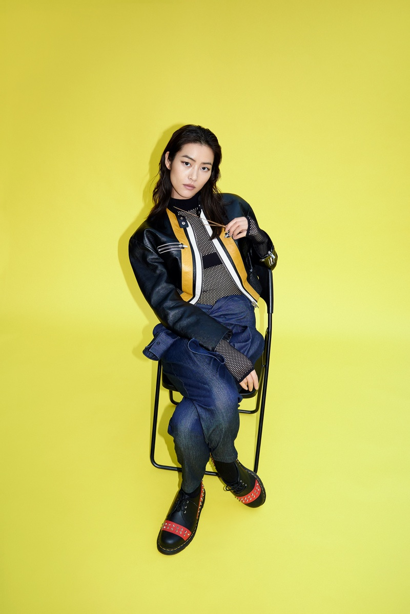 Liu Wen Poses in Relaxed Styles for WSJ. Magazine