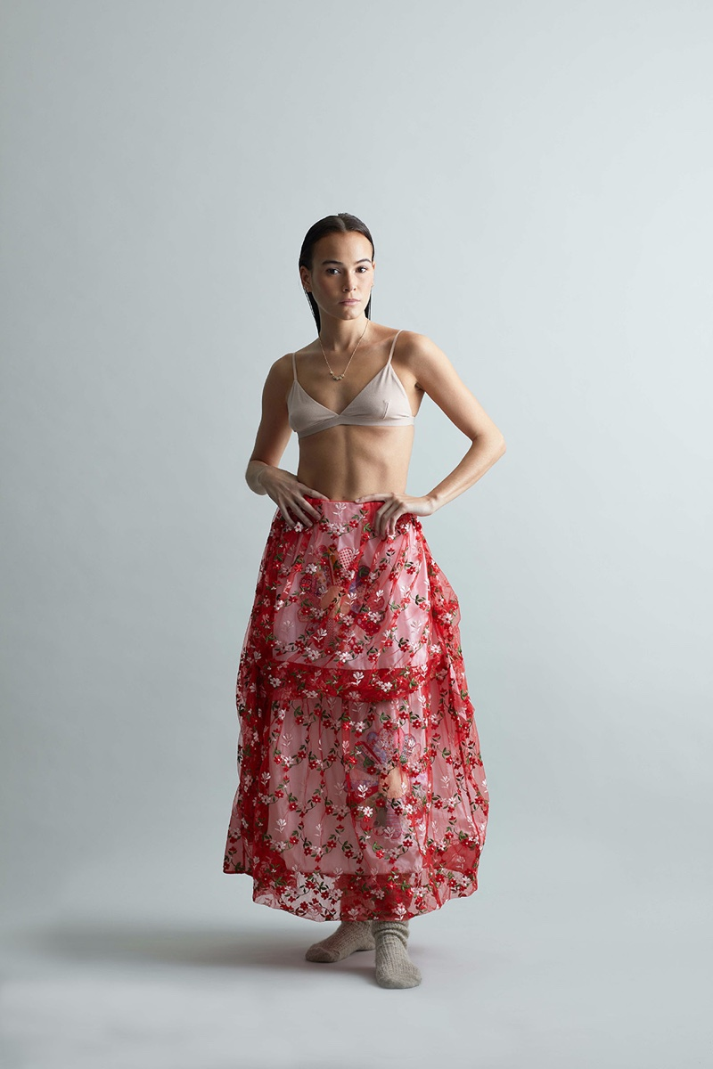 Lohelani Hicks Poses in Upcycled Fashion for Marie Claire