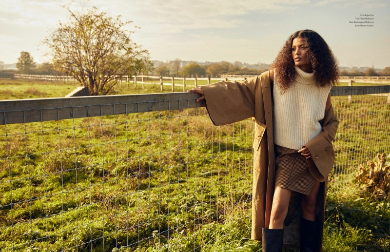 Madu Garcia Poses in Outdoor Styles for Latest Magazine