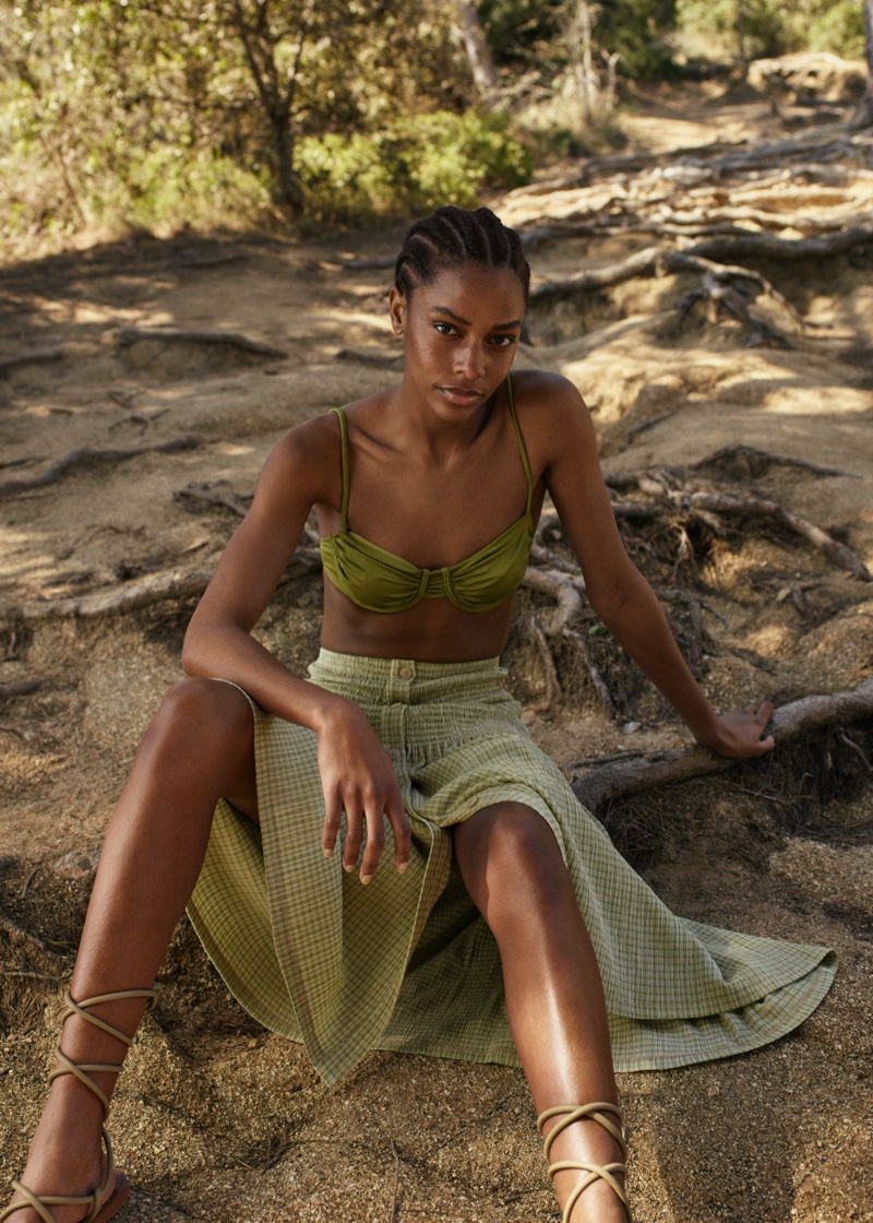 Designs from Mango Committed Effortless spring-summer 2021 collection.