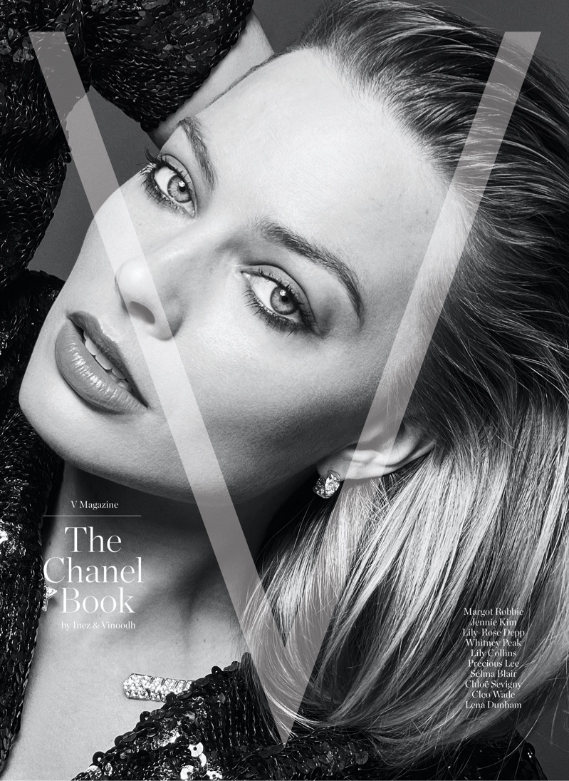 Margot Robbie on V Magazine: The Chanel Book Cover.