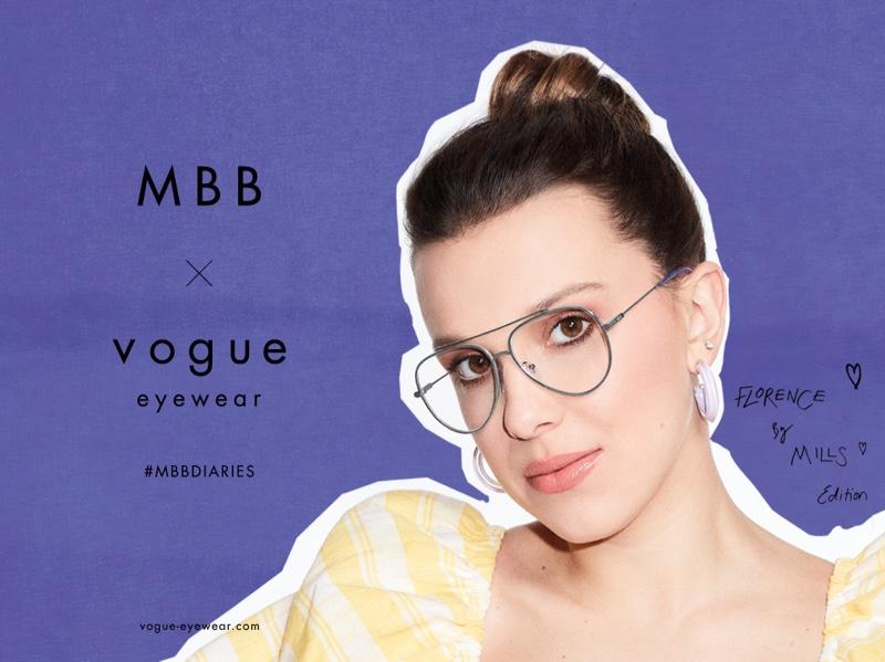 Millie Bobby Brown stars in MBB x Vogue Eyewear 2021 campaign.