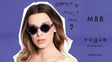 Millie Bobby Brown wears MBB x Vogue Eyewear Florence by Mills edition.
